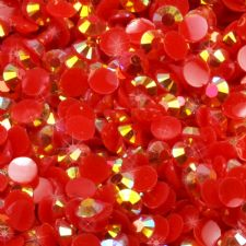 3/4mm Red Iridescent AB Diamanté Rhinestone Embellishments